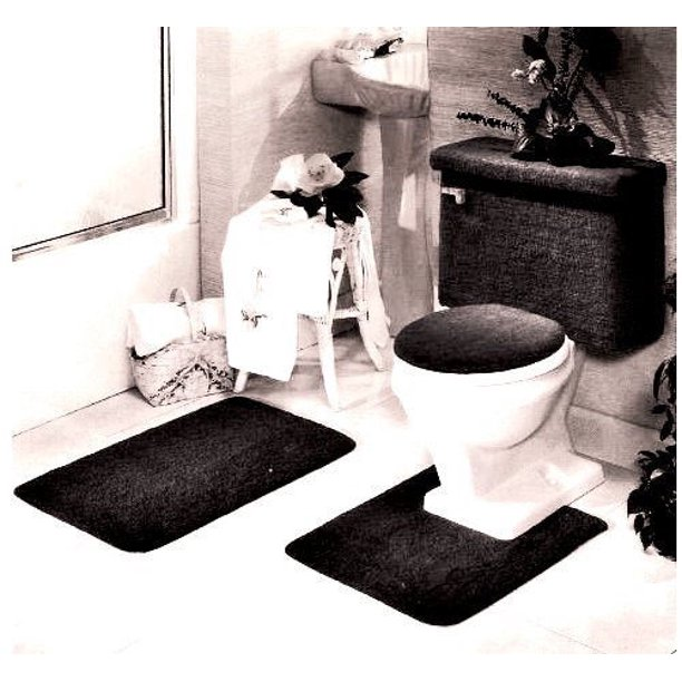 5 Piece Bath Rug Contour Lid Tank, Five Piece Bathroom Rug Sets