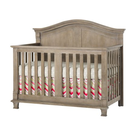 Child Craft Legacy Tressa 4 in 1 Convertible Flat Top Crib with Optional Toddler Rail and Conversion (4 In 1 Convertible Crib With Toddler Rail)