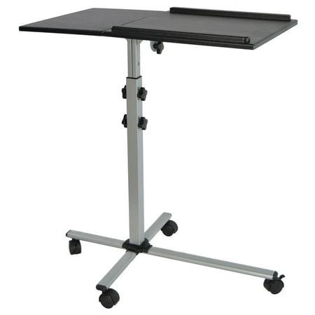 VIVO Projector & Laptop Adjustable Trolley Presentation Cart Mobile Projection Stand (CART-V01L)