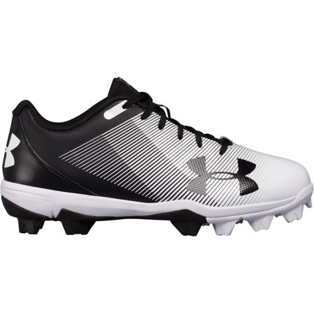 Under Armour Kids' Leadoff RM Baseball Cleats, Black/White,