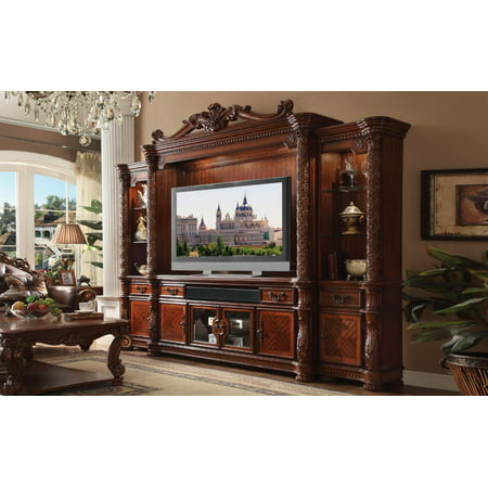 Acme Furniture 91315 Vendome II Cherry Entertainment Center Traditional 2Pcs