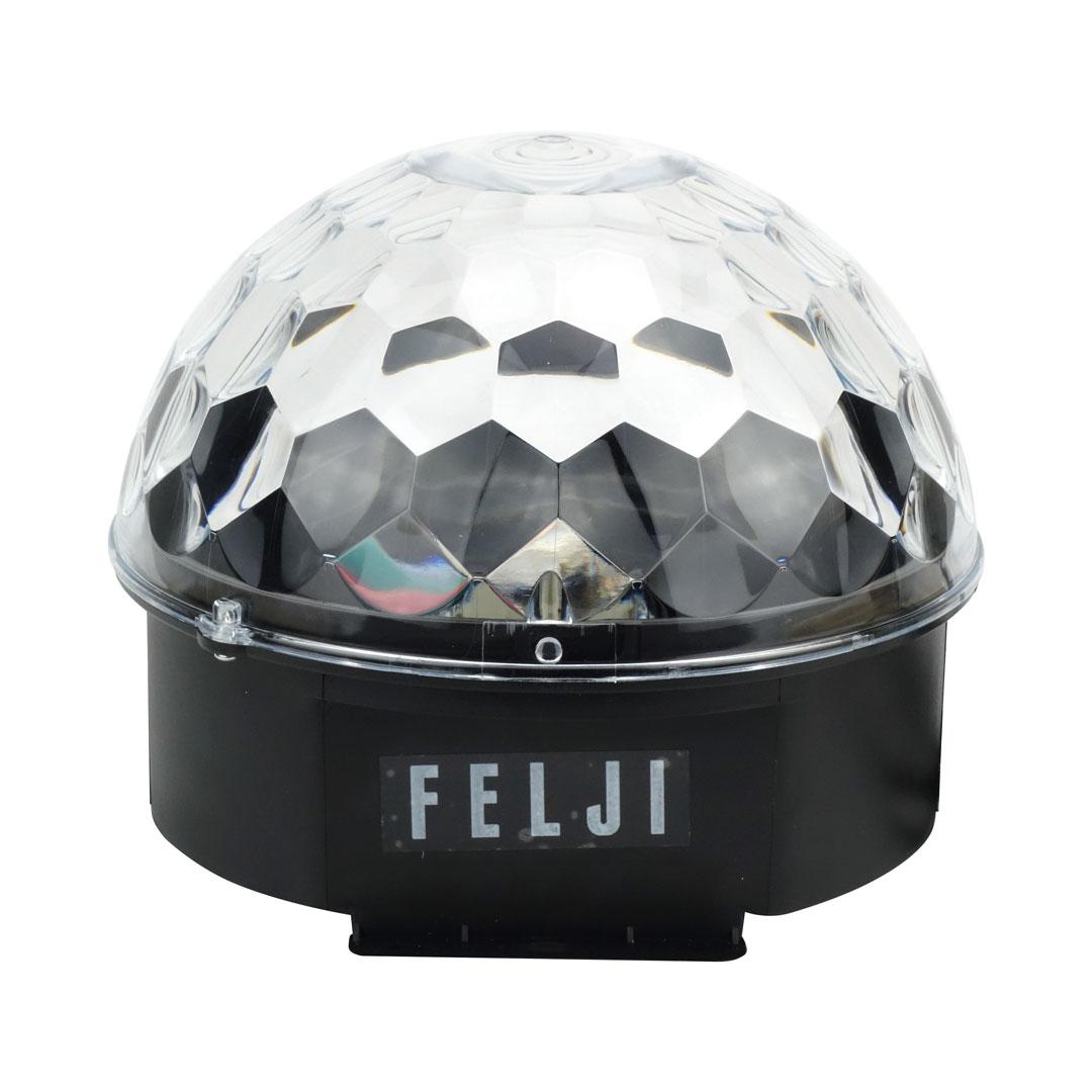 Felji Disco Ball Lights 12W Sound Activated RGB LED Rotating Party Light Stage DJ Strobe Crystal for KTV Wedding Home Show Club Pub Decor AC 85V-260V