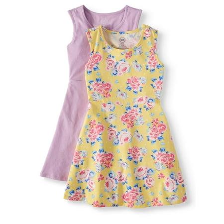 Sleeveless Play Dress, 2-Pack (Little Girls, Big Girls & Big Girls - Little Girl Santa Dress
