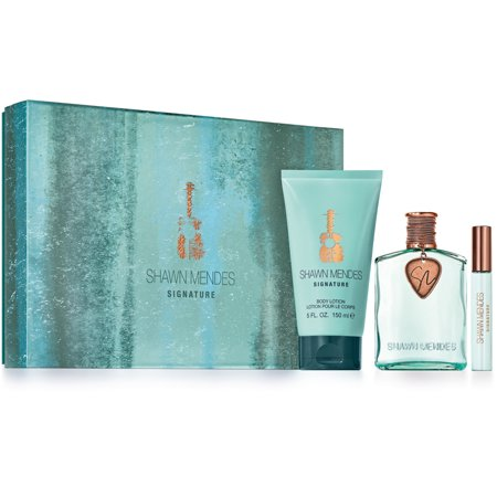 Shawn Mendes Signature for Unisex Fall 2017 Gift Set - Eau de Parfum Spray 3.4 oz + Body Lotion 5.0 oz + Rollerball 0.33