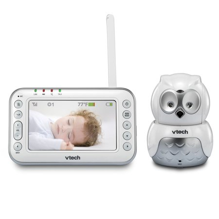 VTech VM344 Safe & Sound Expandable Digital Video Baby Monitor with Pan & Tilt Camera and Automatic Night