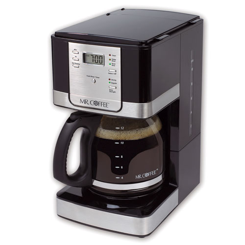 Mr. Coffee Advanced Brew 12-Cup Programmable Coffee Maker, Black/Stainless Steel