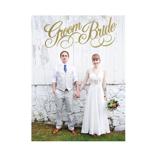 The Decal Guru Bride and Groom Label Wall Decal