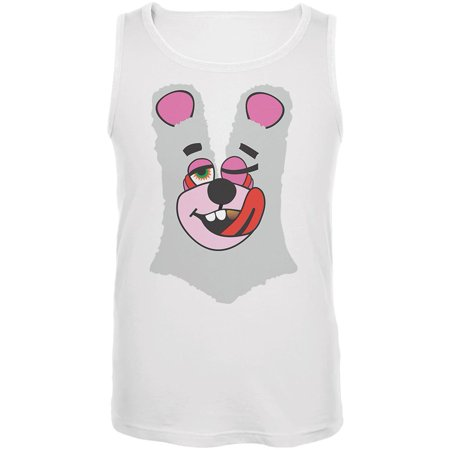 Halloween Twerk Bear White Costume Inspired by Miley Cyrus Mens Tank Top (Miley Halloween 2017)