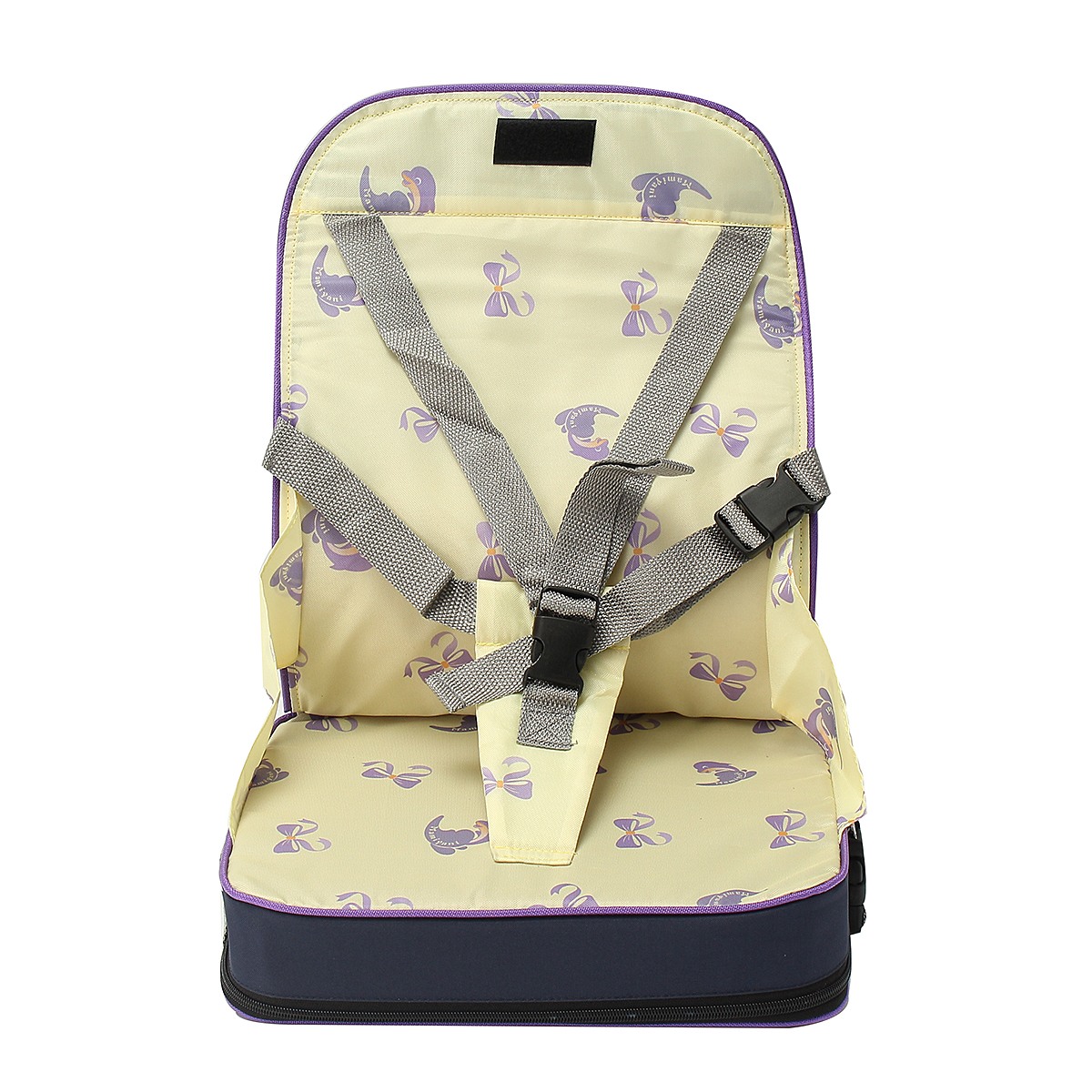 Foldable Baby Feeding Booster Seat Dining High Chair With Harness Safety for Toddler Kids Child,Blue color