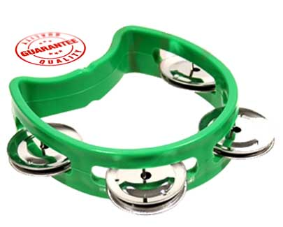D'Luca 4 Inches Child's Tambourine Green by D'Luca