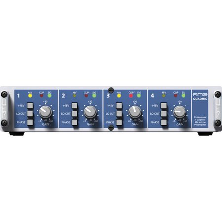 Pro Channel Tube Mic Preamp - RME QuadMic II 4-Channel Microphone Preamp