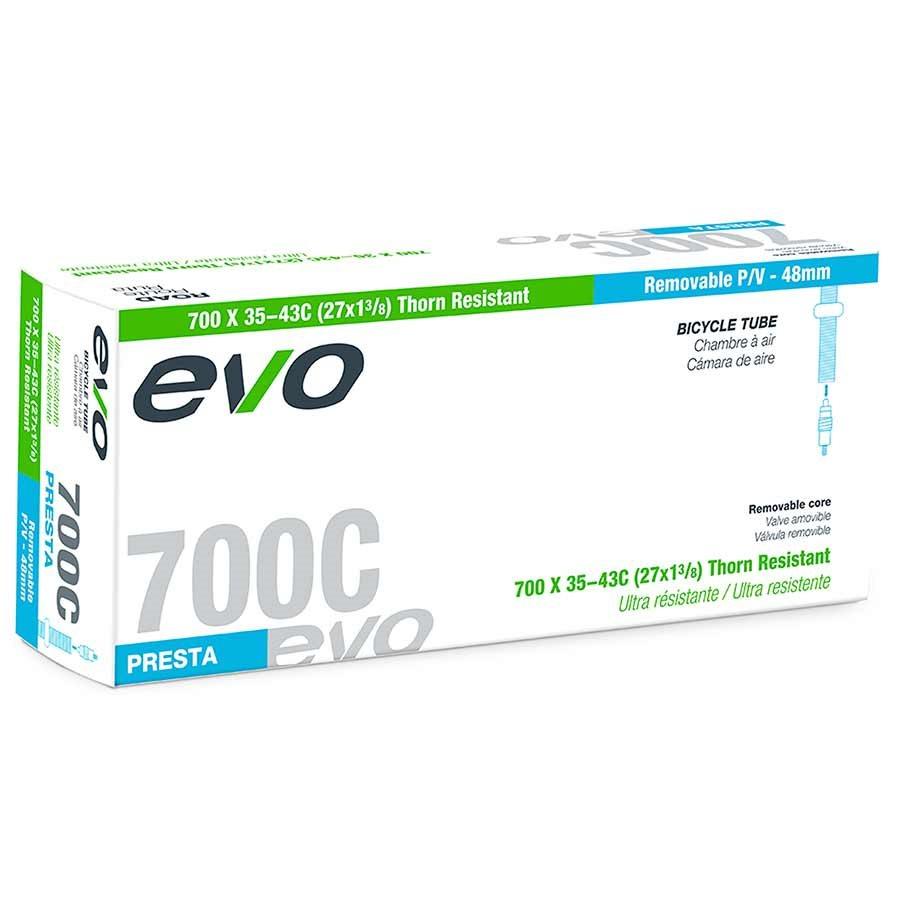 Evo, Thorn Resistant/Removable Presta Valve Core, Inner tube, Presta, 48mm, 27.5x2.00-2.40