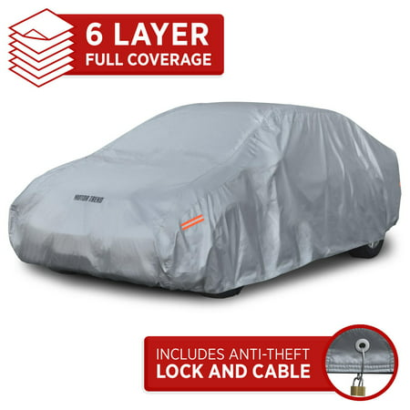 Cover Bmw 7 Series - Motor Trend Car Cover 7 Series Defender Pro - All Weather Protection - Water, Snow, Win & UV Proof - Ultra Heavy 6 Layers (up to 157