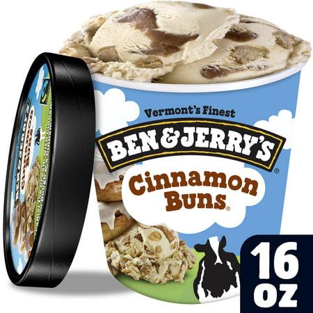Ben & Jerrys Ice Cream Cinnamon Buns 16 oz