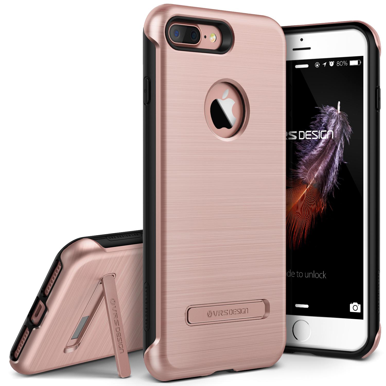 iPhone 7 Plus Case by VRS Design, Duo Guard Protective Kickstand Cover - Titanium Black
