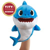 Pinkfong Baby Shark OfficialSong Puppet with Tempo Control - Daddy Shark - Interactive Preschool Plush Toy - By WowWee