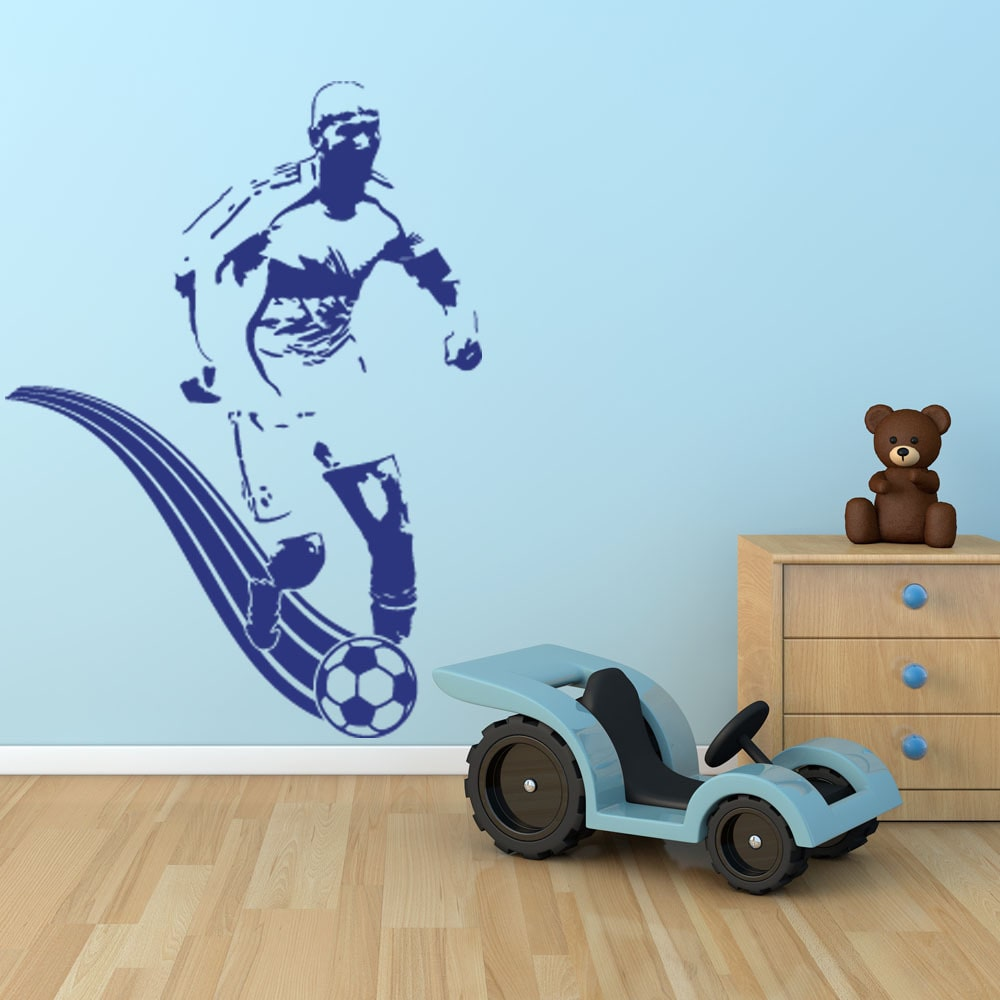 Style and Apply Soccer Player Sport Wall Decal