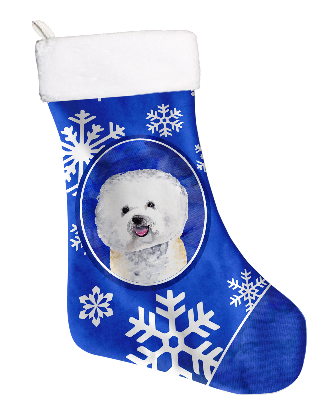 Bichon Frise Stocking Holder Hanger