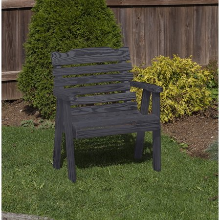 Black Amish Heavy Duty 800 Lb Classic Park Style kiln-dried pine Garden Patio Outdoor CHAIR 2 FEET Made in USA