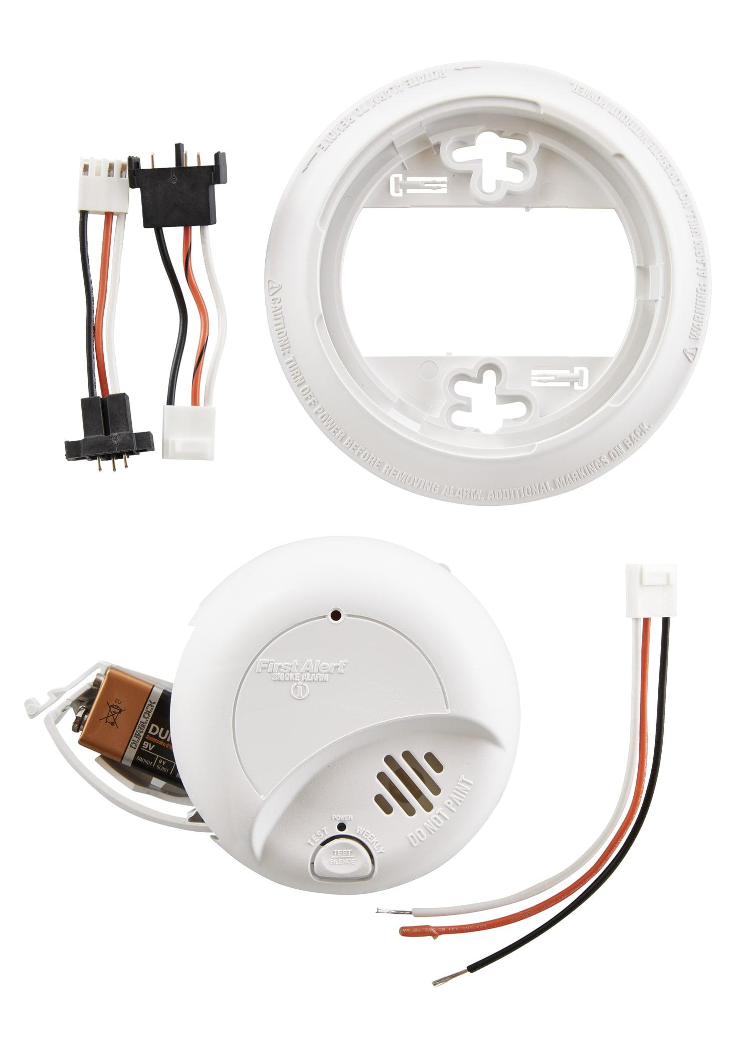 First Alert Sa9120bpcn 120v Ac Hardwired Smoke Alarm With Adapter Firex Wiring Diagram On Kidde Plugs