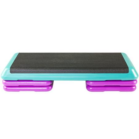 - The Step Original Aerobic Platform – Health Club Size – Teal Platform, Four Original Risers and Streaming Videos