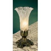 """Meyda 8""""h White Pond Lily Accent Lamp"""