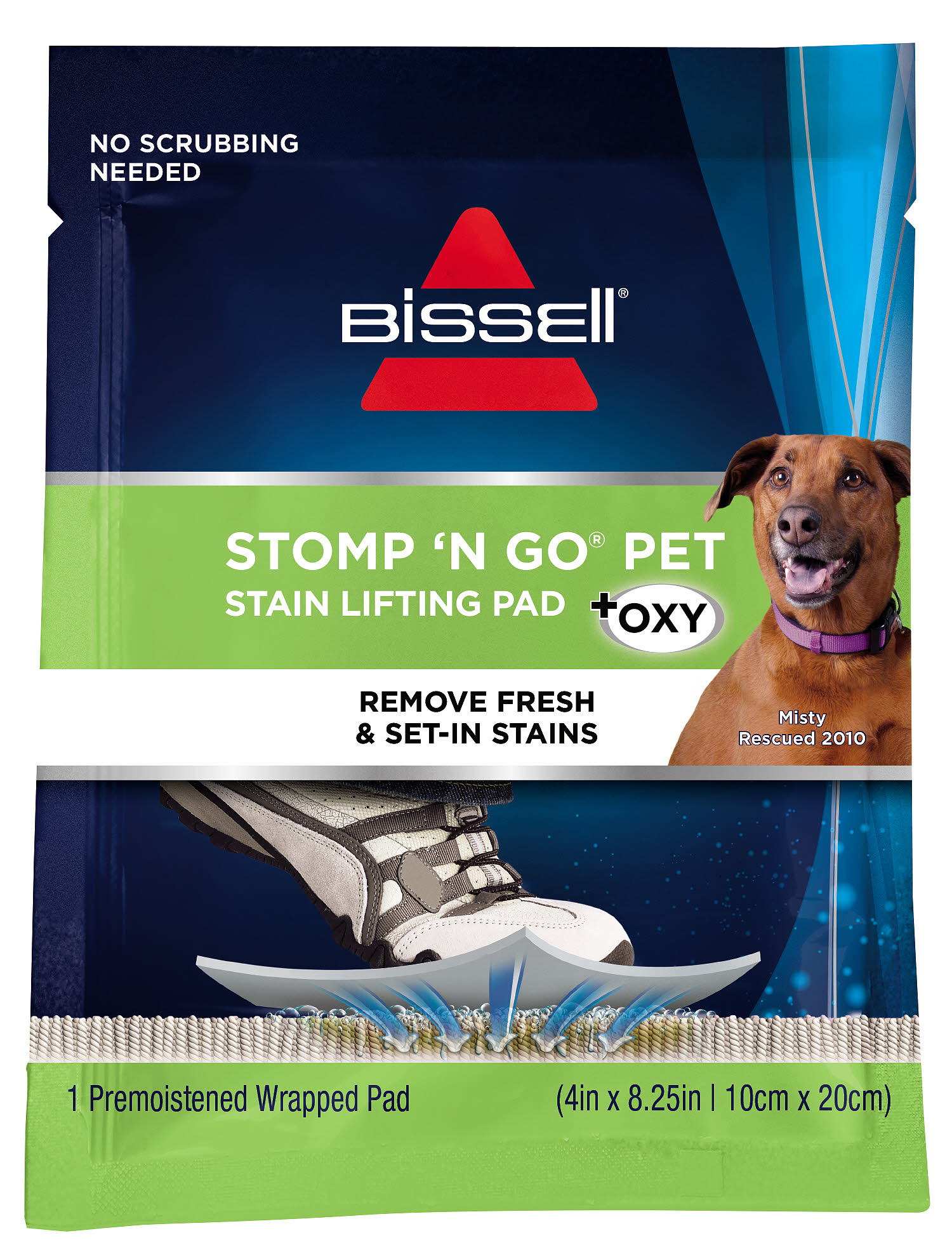 Bissell Stomp N Go Pet Stain Removing Pads With Oxy 20 Pack