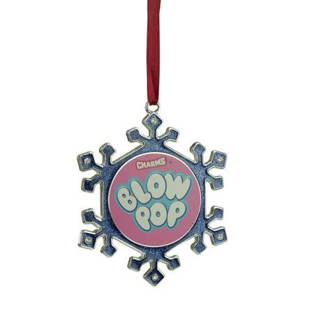 """3.5"""" Argent Plaqué flocon de neige Soufflez Pop bonbons Logo ornement de Noël avec des cristaux européens - image 1 de 1"""