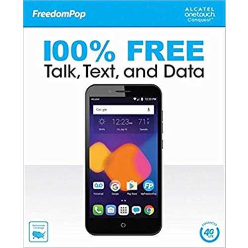 FreedomPop Onetouch Conquest Prepaid Carrier Locked -