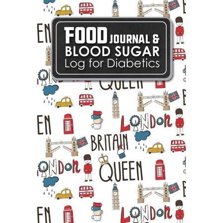Food Journal Blood Sugar Log For Diabetics Blood Glucose Chart