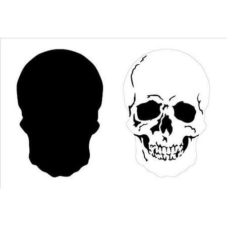 Layered Skull Art Stencil - 6-3/4