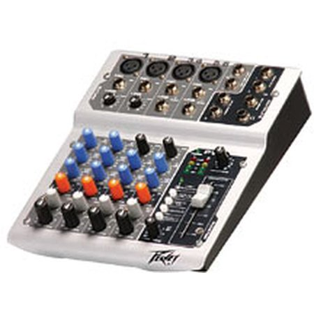 Peavey Pv6 Compact Metal Dj Mixer W/reference Quality Mic Pre-amps ()