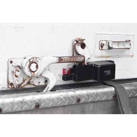 Richco Kurly Lock - RANGER LOCK RGRU-0L Padlock Guard,Hardened Steel,Blk,10