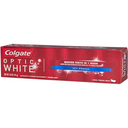 Colgate Optic White Toothpaste  Icy Fresh  5 Ounce  Pack Of 6