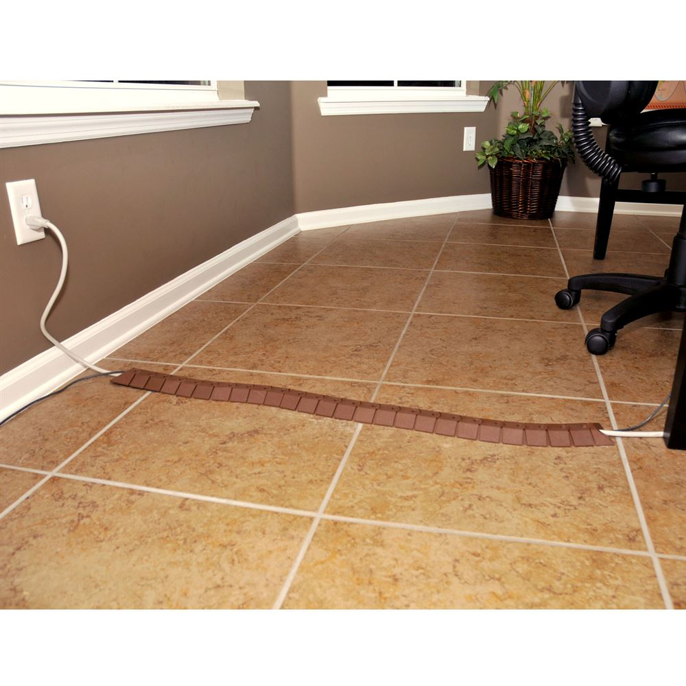40 Length x 3 Width x 3//4 Height UltraTech 1804 Ultra-Sidewinder Cable Protection System with Endcaps Small Brown