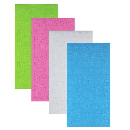 Foam Letter Stickers - Caps Alphabet Letters Foam Sticker Book, Pastel, 8-Inch, 4-Sheets