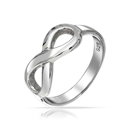 Best Friends BFF Love Knot Infinity Band Ring For Girlfriend For Teen Oxidized 925 Sterling