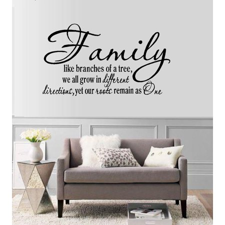 Decal ~ Family, like branches of a Tree #2 ~ Wall Decal (Large 20