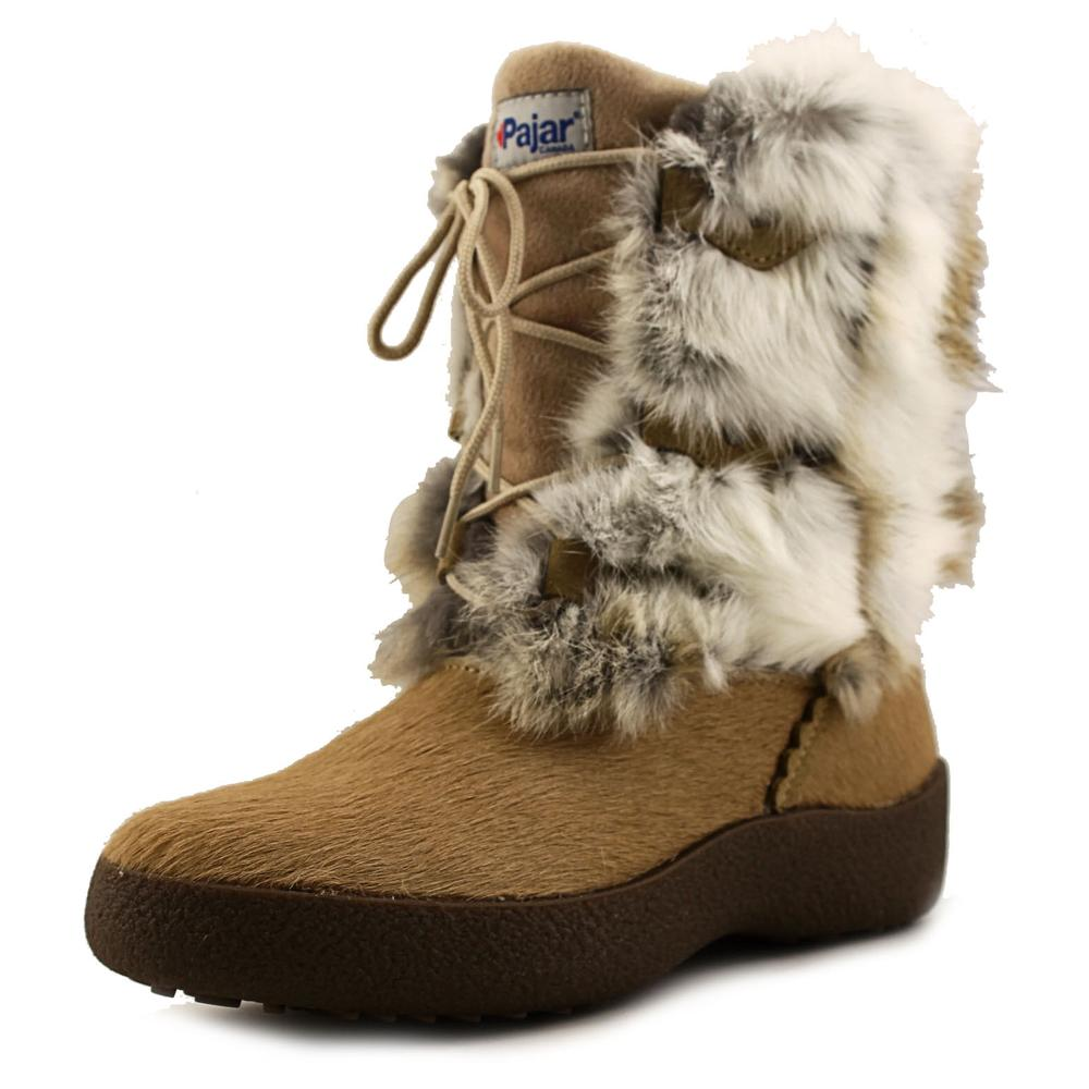 Pajar Livia Boot Women  Round Toe Suede Tan Winter Boot