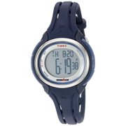 Timex Womens Ironman Sleek 50 Dark Blue Silicone Strap Watch TW5K90500