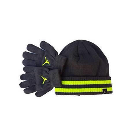 e0419283bde16a Nike - Youth 8 - 20 Nike Jordan Beanie Hat and Gloves Set Boys - Walmart.com
