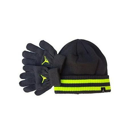 33150c58749 Nike - Youth 8 - 20 Nike Jordan Beanie Hat and Gloves Set Boys - Walmart.com
