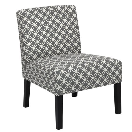 Homegear Home Furniture Accent Armless Chair - Contemporary Designs - Grey Intersecting (Ultimate Design Furniture)