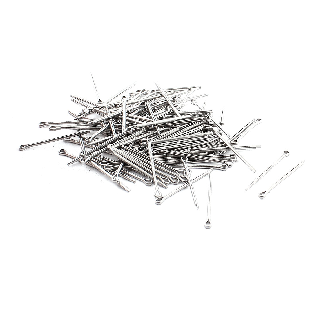 2mm x 30mm x 37mm Stainless Steel Watch Strap Links Cotter Pin 110Pcs