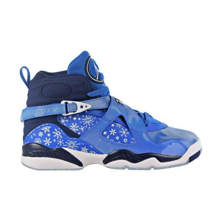 Nike Air Jordan 8 Retro Big Kid's Shoe Cobalt Blaze-Blue-Void-White 305368-400