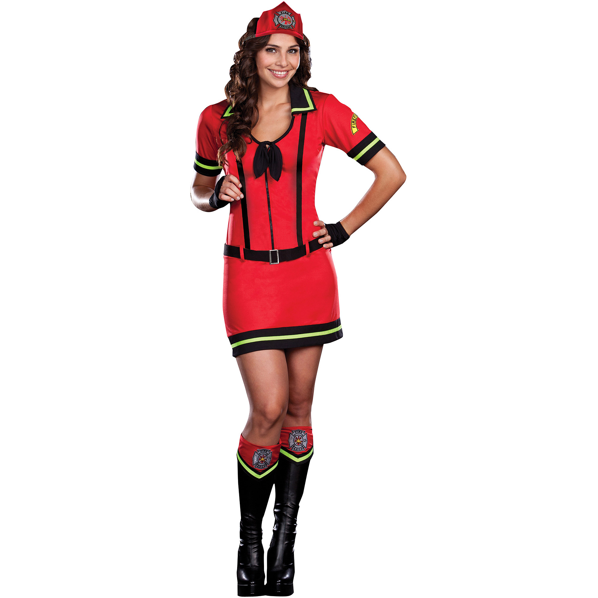 halloween firefighter sm walmartcom - Fire Girl Halloween Costume