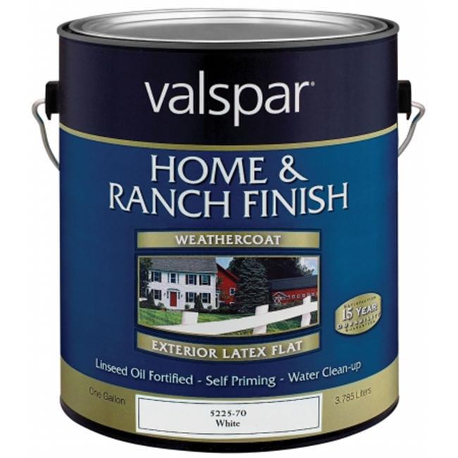 Valspar Brand 1 Gallon White Premium Latex Home & Ranch Paint  18-5221-70 GL - Pack of 4