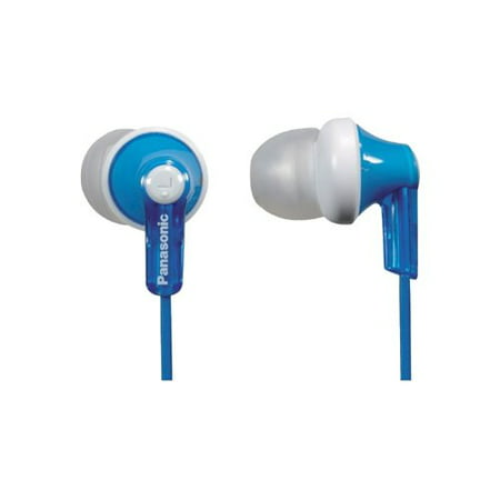 Panasonic ErgoFit Best in Class In-Ear Earbud Headphones RP-HJE120-A (Blue) Dynamic Crystal Clear Sound, Ergonomic Comfort-Fit, No Mic,iPhone, Android