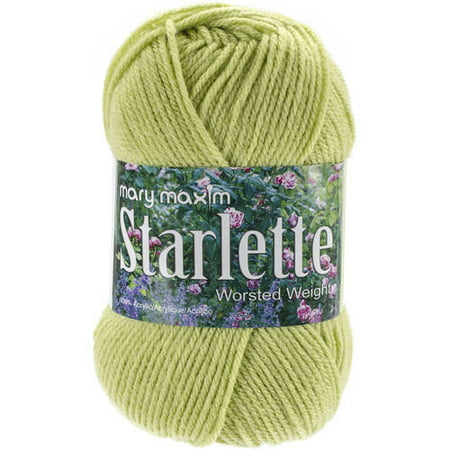 Mary Maxim Starlette Yarn - Lime - 100% Ultra Soft Premium Acrylic Yarn for Knitting and Crocheting - 4 Medium Worsted