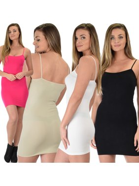 df6d0e2c37 Product Image Lyss Loo Women s 4-Pack Super Duper Stretch Camisole Tank  Dress